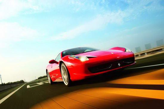 意大利时间 试驾法拉利458 italia高清图片
