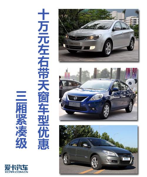 北京车市 三厢紧凑级 十万元左右带天窗车型优惠高清图片